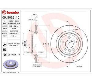 Заден диск вентилиран BREMBO 09.B026.10 302мм Volvo XC60 D5 дизел